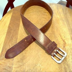 Brown LEATHER Belt by CK ( Calvin Klein Jeans)